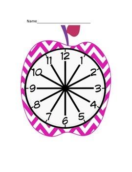 """Appealing Apple"" Chevron Partner Clocks"