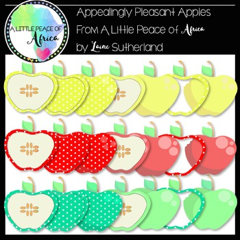 Appealingly Pleasant Apples Clip Art Collection