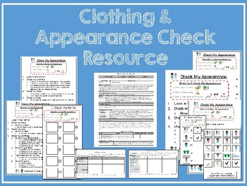 Appearance Check Resource for Special Education or Elementary Ed