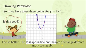 Appearance of Different Curves (Quadratic Graphs) PPT and Worksheets