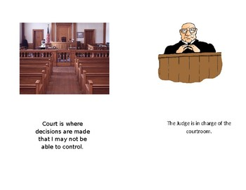 Appearing in court social story