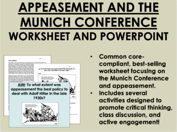 Appeasement Worksheets & Teaching Resources | Teachers Pay