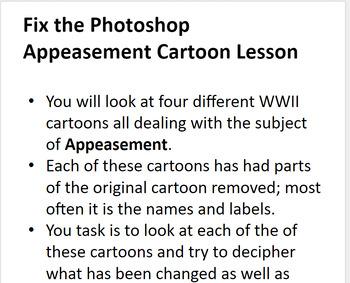 Appeasement Cartoon Lesson - Fix the Photoshop!