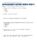 Appeasement Reading and Analysis Worksheet