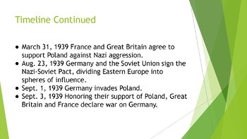 Appeasement With Germany PowerPoint, Guided Notes, and Completed Notes