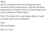 Appeasement and Hitler - 27.2 Powerpoint - World War II