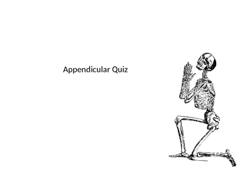 Appendicular Skeleton Quiz