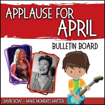 Applause for April! -- Music Bulletin Board Set