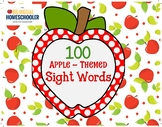 Apple 100 Fry Sight Words Word Wall Center Flashcards Home
