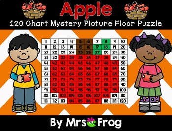 Apple 120 Chart Mystery Picture Floor Puzzle