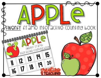 Apple 20 Frame Counting Interactive Book