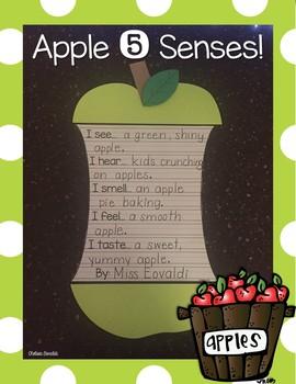 Apple 5 Senses Craftivity