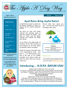Apple A Day Way for April:  April Rains Bring Joyful Gains!