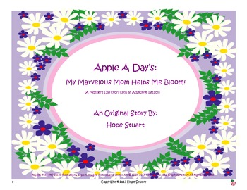Adorable Adjectives: My Marvelous Mom Helps Me Bloom! STORY FREEBIE!