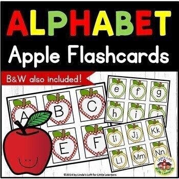 Apple ABC Flashcards and Beginning Sounds Mini-Bundle