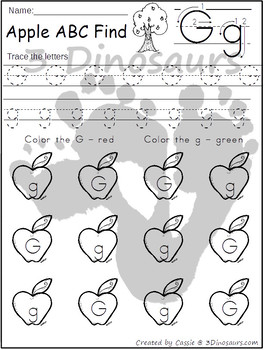 Apple ABC Letter Find: Uppercase & Lowercase
