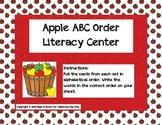 Apple ABC Order Literacy-Word Work Center