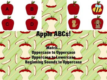 Apple ABCs! (b/w and color versions, differentiated)