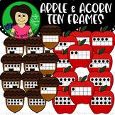 Apple/ Acorn Ten Frame Clip Art