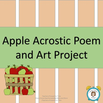 Apple Acrostic Poem and Art Project
