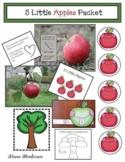 """Apple Activities """"5 Little Apples"""" Activities & Emergent Reader"""
