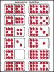 Apple Math Activities: Apple Dominoes Fall Math Activity Packet Bundle