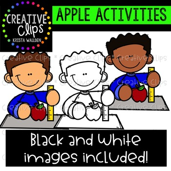 Apple Activities Clipart {Creative Clips Clipart}