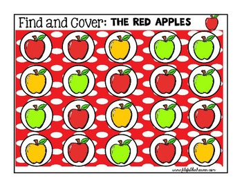 "Apple Activities--""Find and Cover"""