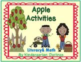 Apple Activities: Literacy & Math- emergent readers, no prep activities & more