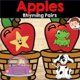 Apple Activities - Rhyming Pairs for Pre-K (PreK) and Literacy Centers