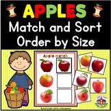 Apple Activities for Preschool: Match, Sort, Order by Size