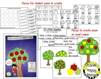 Apple Activity ~ Apple Counting, Craft, and Poem/Song