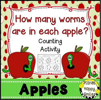 Apple Activity ~ Worms in Apple Counting Activity