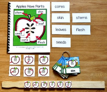 Apple Adapted Book and Vocabulary Activities