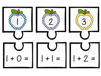Apple Addition Mini Puzzles - Numbers 0-9