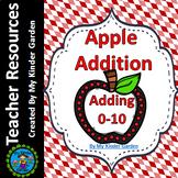 Addition Worksheets Adding 0-10 Fall Apple Theme Math Kindergarten / 1st Grade