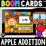 Apple Addition Math Boom Cards™ [Addition Facts 1-5] Fall