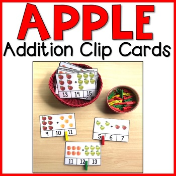 Apple Addition Clip Cards