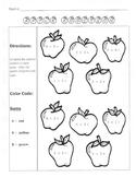 Apple Addition / Fall Math Worksheet  / 1st Grade