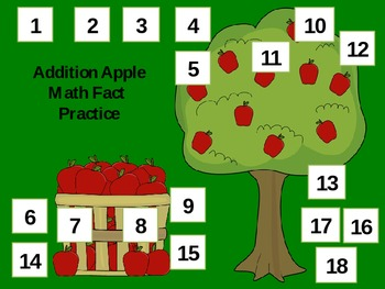 Apple Addition Fact Practice