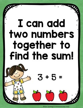 Apple Addition Facts 11-20 Centers