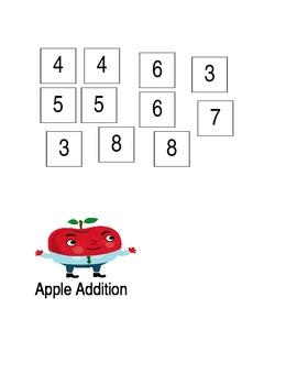 Apple Addition File Folder Game