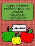 Apple Addition Interactive Notebook Activities