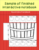 Johnny Appleseed Ways to Make Ten Interactive Notebook INB