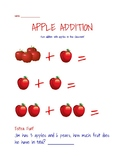 Apple Addition - Making Addition Interactive & Fun!