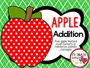 Apple Addition Math Centers
