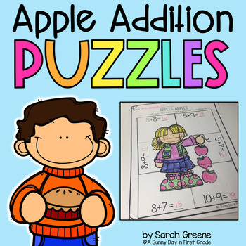 Apple Addition Puzzles!