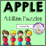 Apple Addition Puzzles- Addition to 10