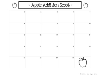 Apple Addition Scoot (Game)