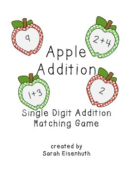 Apple Addition Single Digits